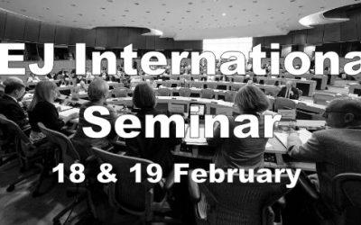AEJ International Seminar 18 & 19 February