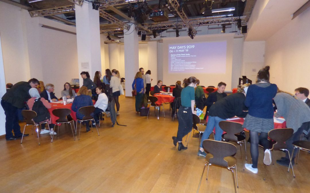Speed dating for students with think tanks and AEJ Belgium on May 9